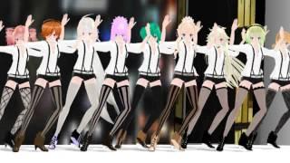 [MMD] Teto,Meiko,Haku,Luka,Miku,SeeU,IA,Gumi,Rin - Run Devil Run