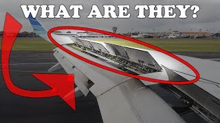What are those things on the aircraft wing?