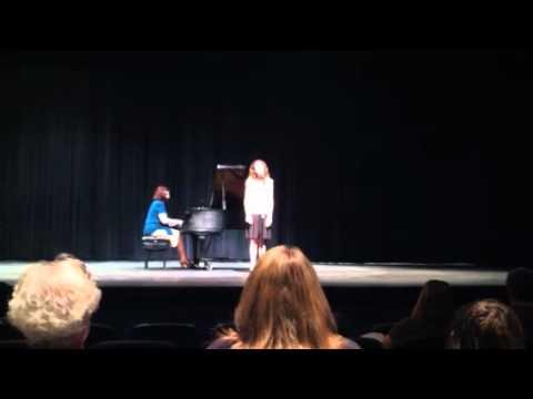 Ashley singing Nel cor pui non mi sento