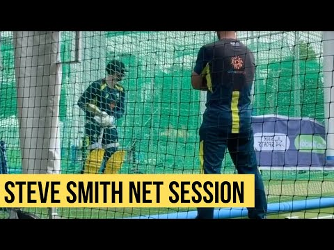 Ricky Ponting Coaching Steve Smith - Net Session before England World Cup Match