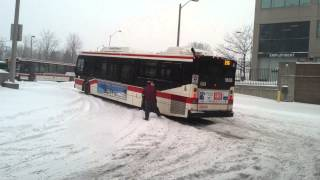 TTC - try and try again (bus stuck on hill)