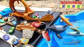 DISNEY CARS 10 PACK CAMPEONATO EN MEGA TRACK Carros de Carrera para niños  Pista de Coches CARS 3