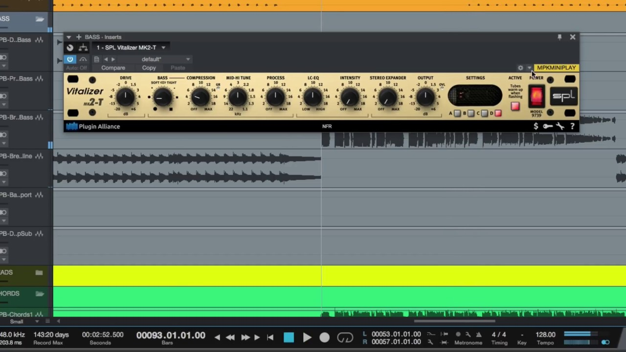 SPL Vitalizer MK2-T Plugin - Enhancing Bass and Highs on EDM
