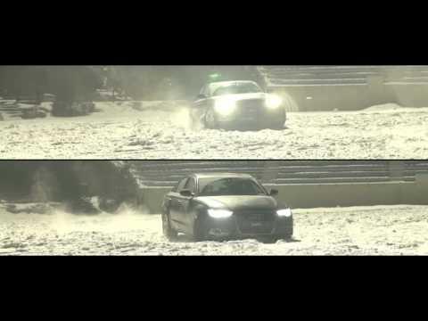 Audi 4wd Quattro system Kazama Kwan winter drift testing !!