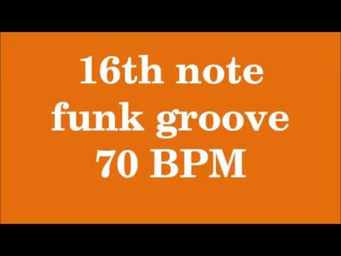 Drum Loop for Practice 16th note funk groove 70 bpm