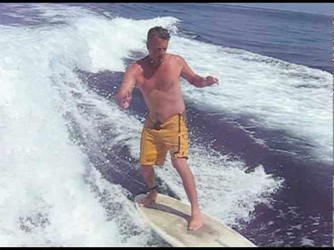 Rick Wake Surfing at Catalina Island