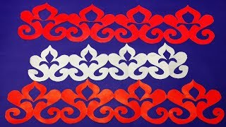 DIY Paper Border for decorations#How to make easy paper cutting Border design-Easy craft