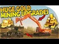 CASHING IN OUR GOLD + HUGE GOLD MINING UPGRADE + NEW EXCAVATOR - Gold Rush The Game Gameplay