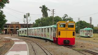 台湾糖業鉄道八翁線トロッコ列車 中興駅から入庫 Taiwan Sugar Railways Narrow Gauge Train for Depot