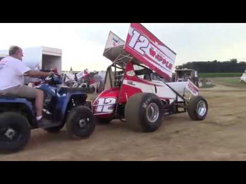 Trail-Way Speedway 358 Sprint Car Highlights 6-30-17