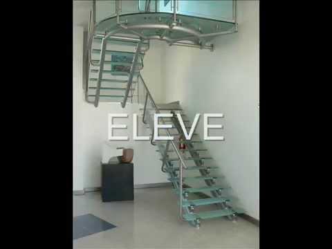 Dise o de escaleras y barandas youtube - Modelos de escaleras de caracol para interiores ...