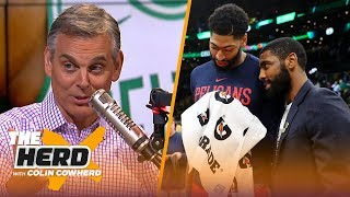 Colin Cowherd is not impressed with Anthony Davis, talks Kyrie Irving being 'flaky' | NBA | THE HERD