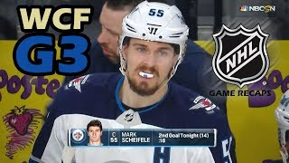 Winnipeg Jets vs Vegas Golden Knights. 2018 NHL Western Conference Final. G3. 05.16.2018. (HD)