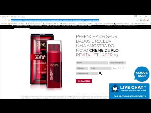 L'Oréal Creme de Rosto Duplo Revitalift Laser X3 - Amostras Grátis