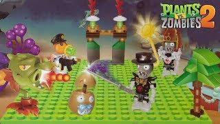 Build Plants vs Zombies PVZ 2 Lego Playset Snapdragon Potato Mine Pea Shooter Pharaoh Zombies DIY thumbnail