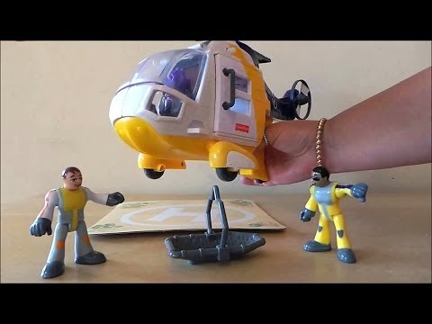 Amazing Kindergarten Trigger Action Fisher-Price Air Ambulance Rescue Toy Helicopter