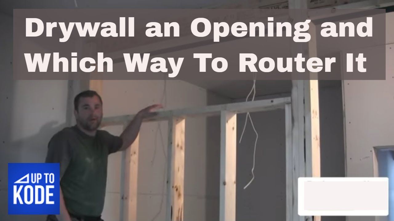 Drywall over window opening and router youtube for Drywall around windows