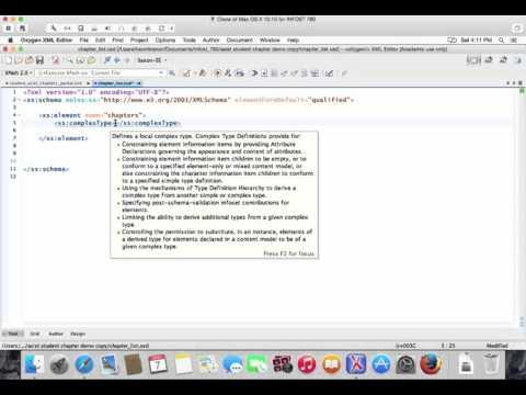 Demo: Building a W3C XML Schema for Data Interchange