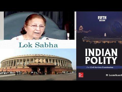 PARLIAMENT  (SPEAKER OF LOK SABHA)INDIAN POLITY BY MY LAKSHMIKANT:UPSC/STATE_PSC/SSC/RBI/RAILWAY