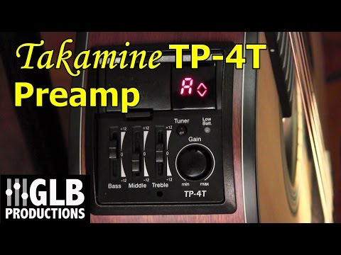 Takamine TP-4T acoustic guitar preamp review and user guide
