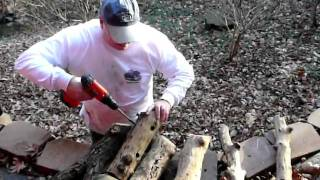 Making Woodpecker Feeders 12-20-09.MOV