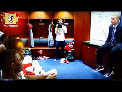 Chris Mullin post game locker room