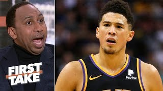 After Devin Booker's 59-point performance in the Phoenix Suns' loss to the Utah Jazz, Stephen A. Smith and Max Kellerman debate if Booker should want out of ...