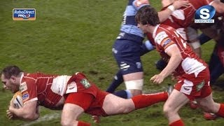 Excellent Ken Owens Try from rolling maul - Cardiff Blues v Scarlets 20th April 2014