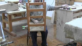 How We Build Bar Stools Pt7 Weaving The Seat