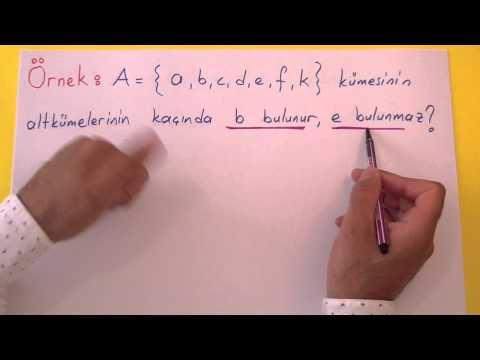 Kümeler 3 - Alt Küme Şenol Hoca Matematik