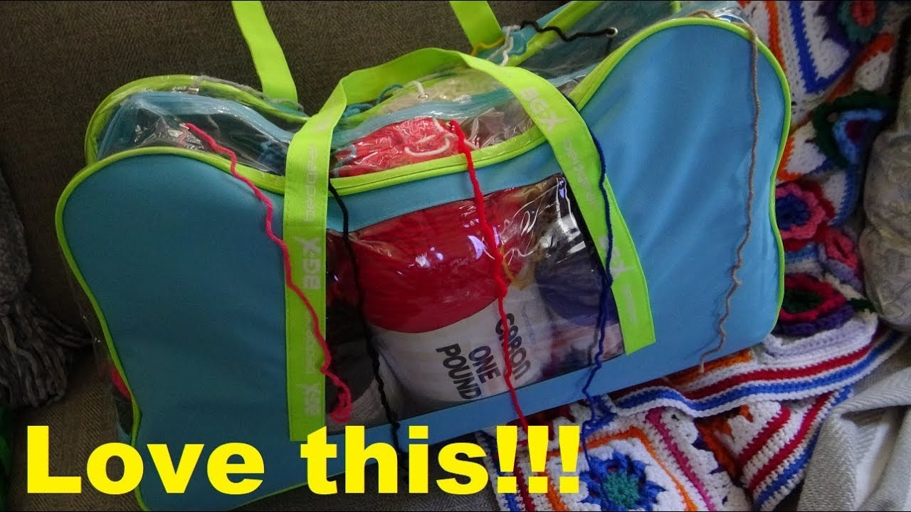 How to Make a Yarn Organizer Tote or Knitting Bag! So Easy!