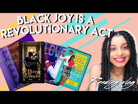 reading black romance for a week as a form of self care | reading vlog