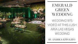 Download lagu Aria Las Vegas | Luxe Emerald Green Wedding BTS Video by Andrea Eppolito