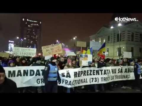 Cel mai mare protest din Capitala: Justitie, nu coruptie