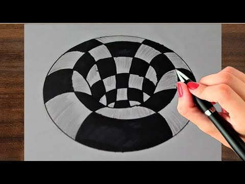 how-to-draw-3d-hole-!-very-easy-anamorphic-illusion-!-optical-illusion-drawing