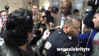 mariah carey spotted at lax airport mobbed by fans