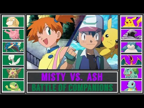 Ash Vs. Misty (Pokémon Sun/Moon) - Battle Of Companions