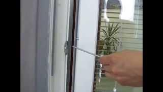 Nastavenie prítlaku krídla okna k rámu / Pressure adjustment of window casement
