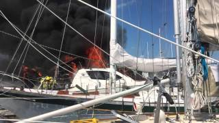 Fire Stock Island Marina