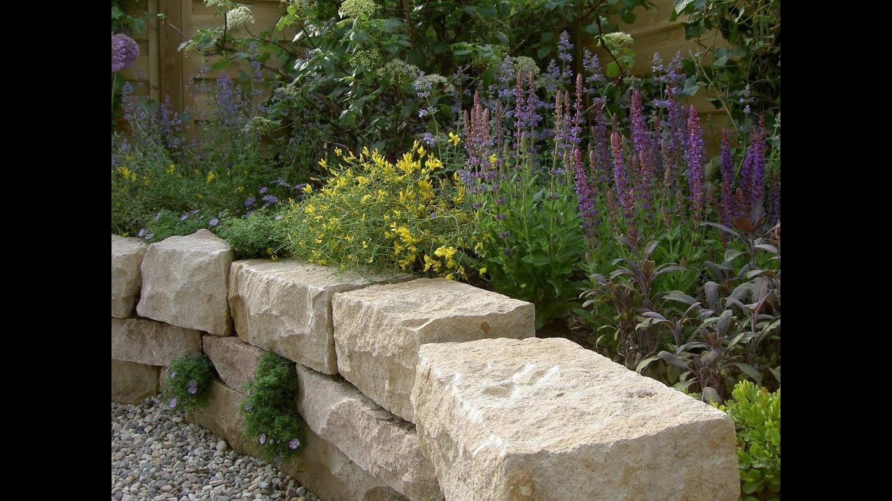Trockenmauer und Terrasse  Arbeiten mit Naturstein  natursteinwolf  YouTube