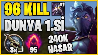 96 KILL | 4 DESTEK 1 KASSADIN URF'TA NE YAPAR? (1700 AP & 0.28s Ulti CD) | KassadinsCreed