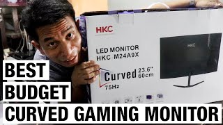 bEST BUDGET GAMING MONITOR HKC M24A9X  UNBOXING  REVIEW