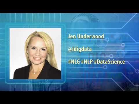 Jen Underwood (@idigdata) - Natural Language Generation, NLG vs NLP, Automation Analytics