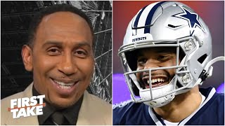 Stephen A. predicts the Cowboys will win over 10 games this season | First Take