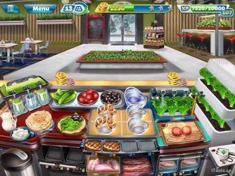 【Cooking Fever】Salad Bar Level 40 (3 Stars)