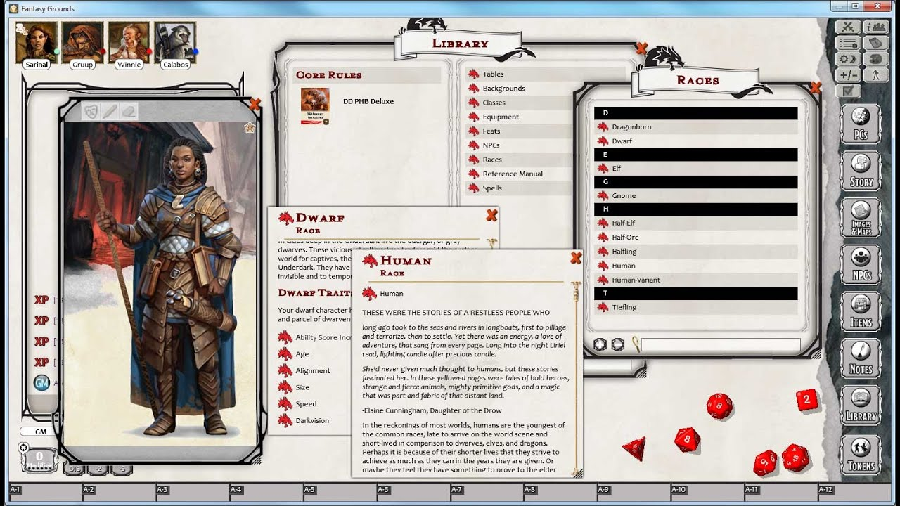 Making a D&D Character in Fantasy Grounds