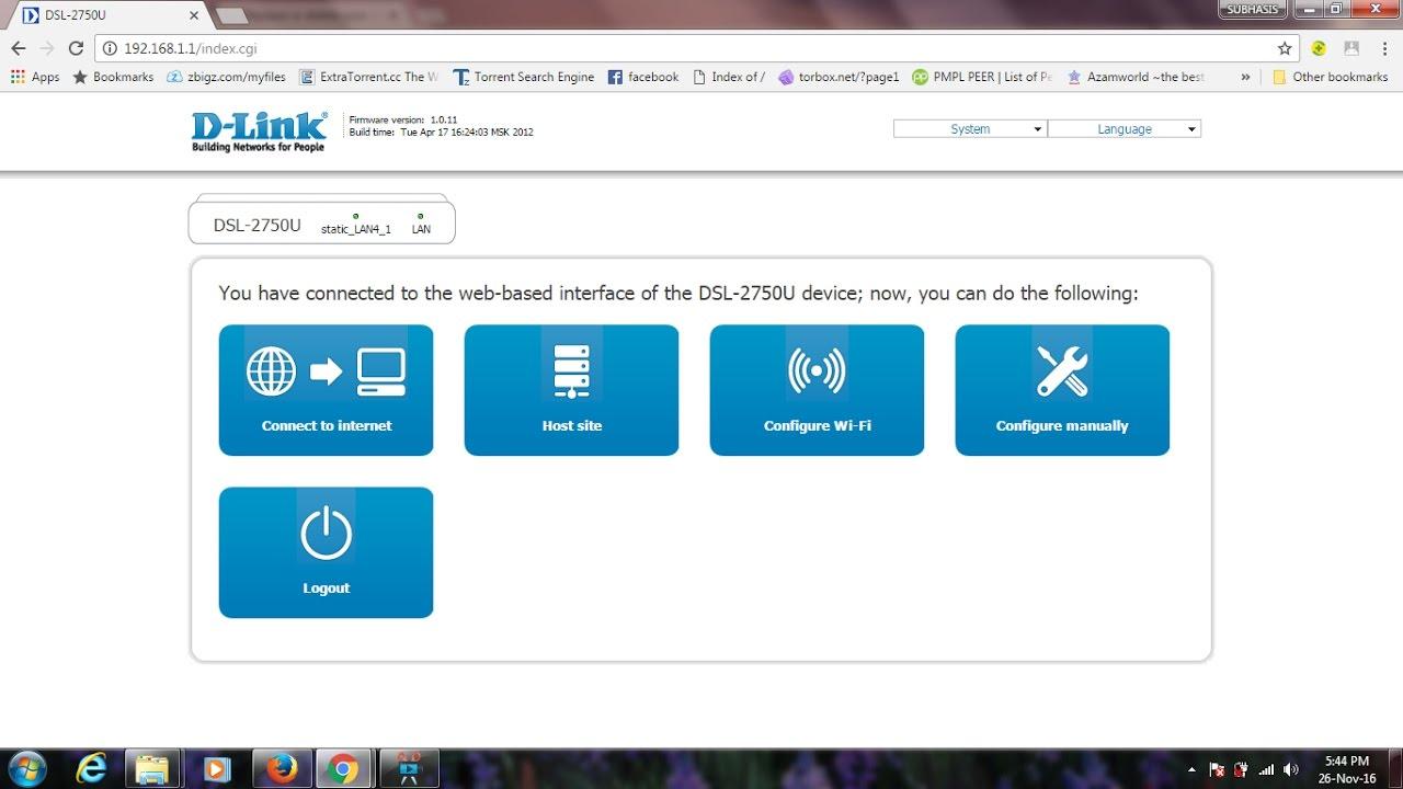 Ethernet Wan Setup D-Link DSL-2750U Broadband wifi router