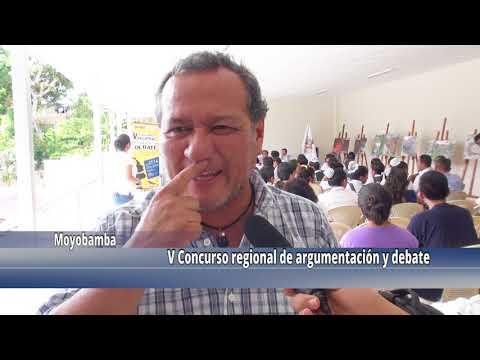 Estudiantes de la región San Martín participaron del concurso de argumentación y debate