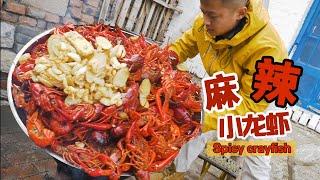 一看就会的超爽麻辣小龙虾,一人能吃10斤!Chinese spicy crayfish recipe