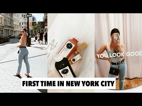 NYC VLOG: glossier show room, cute healthy restaurants + exploring soho!